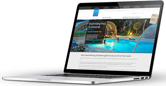 A macbook pro with a Nick Carswell - Freelance web design created website.